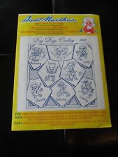 Aunt Martha's Iron On Transfer Patterns for Stitching, Embroidery Or Fabric Painting