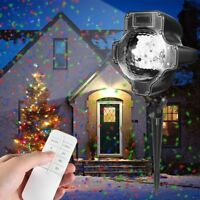 Holiday Projector Lights, Womsky Rotating IP65 Waterproof Sparkling Landscape