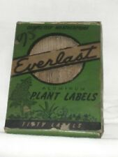 Antique Everlast Aluminum Plant Tags/Markers/Labels Double-sided, with Wires