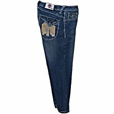 Laguna Beach Jean Company Destroyed Distressed Jeans Eagle Flap Pockets 40 X 32