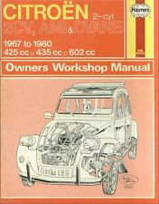 CITROEN 2CV 2CV4 2CV6 DYANE 4 / 6 & AMI 6 / 8 1967 - 1980 OWNERS WORKSHOP MANUAL
