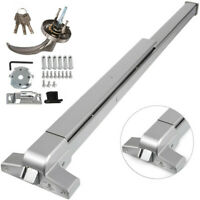 Door Push Bar Panic Exit Device W/ Exterior Lever With Dogging Feature & Key