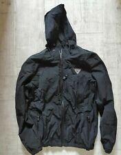 ONE TRUE SAXON Men's WATERPROOF Jacket SMALL Drawstring HOOD Black Taped SEAMS