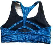 LULULEMON Circuit Breaker Bra size 8 Scatter Star Beach Blanket Blue Black EUC