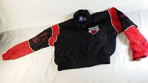 Vintage Chicago Bulls Starter Zip Up Windbreaker Basketball Jacket Youth Medium