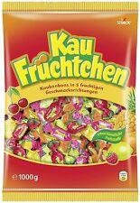 (1000g=4,49€) Storck Kau Früchtchen - Frucht Kaubonbons - 1000 Gramm