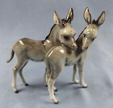 Asino figura animale porcellana personaggio Hutschenreuther asino personaggio PORCELLANA personaggio asino COPPIA