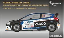 DECALS 1/43 FORD FIESTA WRC - #1 - MAURIN - RALLYE MONT-BLANC 2014 - D43349