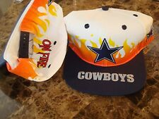 DALLAS COWBOYS ANNCO FIRE ON   SCRIPT NEW VINTAGE 90'S HAT CAP  SNAPBACK