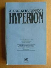 HYPERION Dan Simmons SIGNED Uncorrected Proof of 1st edition Hugo Award winner