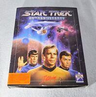 "STAR TREK 25TH ANNIVERSARY IBM DOS BIG BOX PC GAME 8 3.5"" DISCS [1991] ~USED"