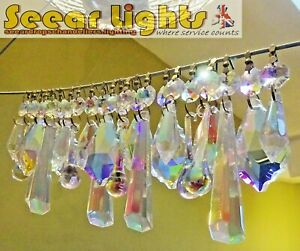 AURORA BOREALIS AB CHANDELIER DROPLETS CRYSTALS GLASS WEDDING DROPS DECORATIONS