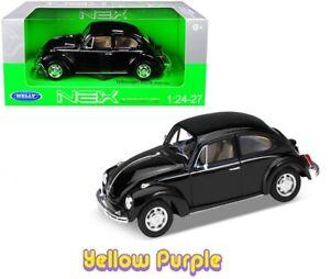 Welly 1:24 - 1:27 Volkswagen Beetle Hard Top Diecast Model Car Black 22436