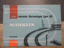 Catalogue MARKLIN 0321 - Einfache Gleisanlagen Spur HO - 26 pages