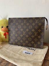 Authentic Louis Vuitton Pouch Toiletry 26 pochette Monogram Handbag Pouch Rare