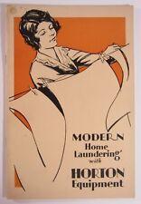 Horton Laundry Equipment Manual Roller Iron Ironer Mangler Home Instruction 1931
