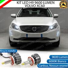 KIT FULL LED H9 VOLVO XC60 ABBAGLIANTI 9600 LUMEN 6000K BIANCO CANBUS