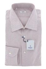 New $325 Barba Napoli Burgundy Red Shirt - Slim - 15.5/39 - (D2U10T0000005)
