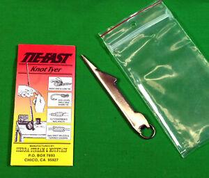 Tie-Fast Knot Tyer  Fly Fishing  Multi  Tool  Blood Nail Splice Knots