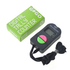 Digital Tally Counter 4 Digit Electronic Manual Hand Clicker Up Down Neck Strap