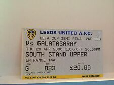 Football Ticket - Galatasaray - South Stand Upper - Semi final UEFA Cup 2000