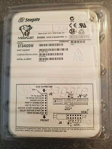 """Seagate Medalist Pro 4520 4.55GB Internal 7200RPM 3.5"""" (ST34520W) HDD"""