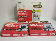 "Lot Of 3 Window Insulation Shrink Kit (2) 42"" x 62"" & (1) 62"" x 210"" - clear"