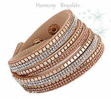Tan Swarovski Elements Wrap Glitz Bracelet by Harmony Bracelets
