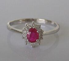 Princess💕 0,25 ct. Brillanten Ring aus 585 Gold mit Rubin Brillant Ruby diamond