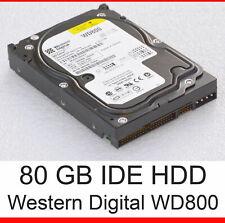 80GB FESTPLATTE IDE PATA 40-PIN WD WESTERN DIGITAL WD800 WD800BB HARD DRIVE F5