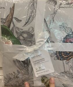 NEW POTTERY HUMMINGBIRD DUVET KING DUVET COVER W/ 2 STANDARD SHAMS