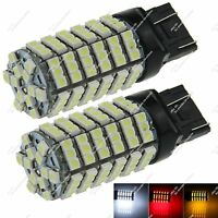 2X 7443 W3X16D 120 SMD 1210 LED Brake Light Turn Signal Lamp Reverse Bulb ZG006