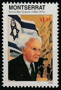 Montserrat postfris 1998 MNH - David Ben Gurion (K249)