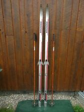 """GREAT Ready to Use Cross Country 75"""" Long ROSSIGNOL 195 cm Skis +  Poles"""