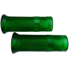Motorradgriffe im Custom Old School Anderson Style transparent grün für 1 Zoll