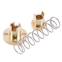 Brass T8 Anti-Backlash Spring Loaded Nut Set Fit For 8mm Threaded Rod Lead Screw