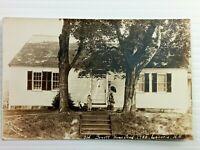 Vintage Postcard 1910's RPPC Old Jewett Homestead 1780 Laconia NH Photo