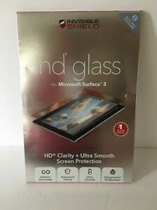 NEW ZAGG InvisibleSHIELD HD Glass Screen Protector for Microsoft Surface 3