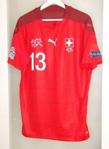 Match worn shirt Switzerland national team Nations league Milan Torino Italy