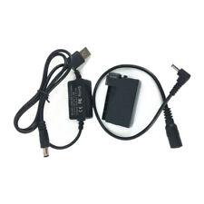 LP-E8 Dummy Battery Coupler + USB Cable for Canon Cam Power Bank as ACK-E8 DR-E8