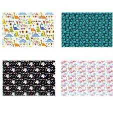 4pcs Gift Wrapping Paper Roll Flamingos/Dinosaurs/Unico rns Design Present Decor