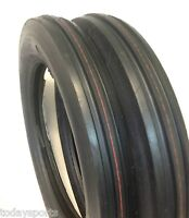 TWO 4.00-19 400-19 400x19 F-2 Tri 3 Rib Front Tractor Tires FORD 2N 9N Fast Ship
