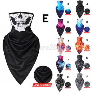 3D Skull Neck Gaiter Bandana Cycling Motorcycle Sun Shield Face Mask