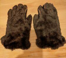 Vintage Fur Gloves By Perrin 1950's - 1960's