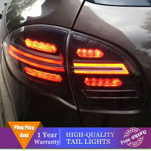 New LED Taillights Assembly For Porsche Cayenne 2011-2014 Dark LED Rear lights