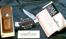 "Schrade LB5 Lockback Knife & Sheath ""Ivomec-F"" Loss Cert. W/Packaging ,Papers"