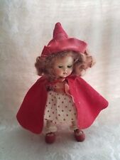 Vintage Vogue Ginny Little Red Riding Hood Doll Red Hair 8""