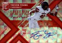 2018 Panini Elite Draft Picks Autograph Aspirations Trevon Young RC AUTO 17/75
