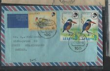 LESOTHO COVER  (P1501B)  1982 BIRDS 25 SX2+16S A/M COVER TO SWEDEN