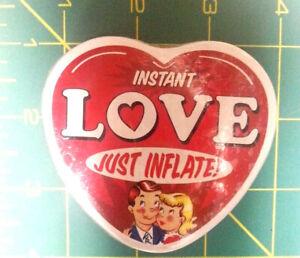 Instant Love - Inflatable heart in tin - Reusable - non edible - ships worldwide
